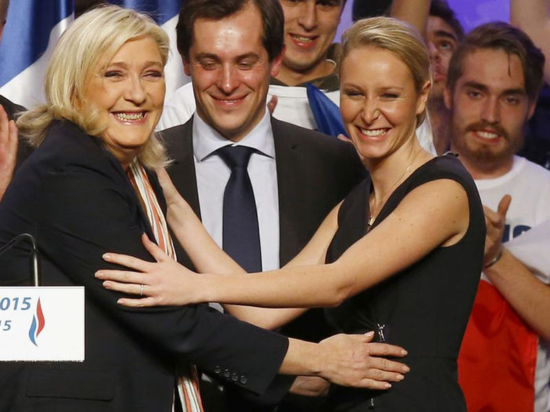 French far-right National Front Party leader, Marine Le Pen.