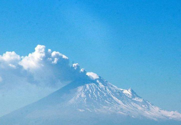 El volcán Popocatépetl continúa emitiendo fumarolas y columnas de gas y agua. (Notimex)