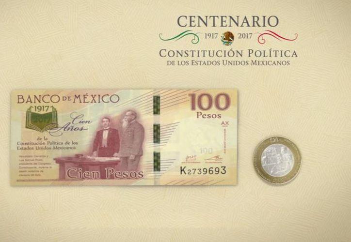 El billete de 100 pesos, y la moneda de 20, son de curso legal y podrán usarse para realizar cualquier pago. (Banxico)