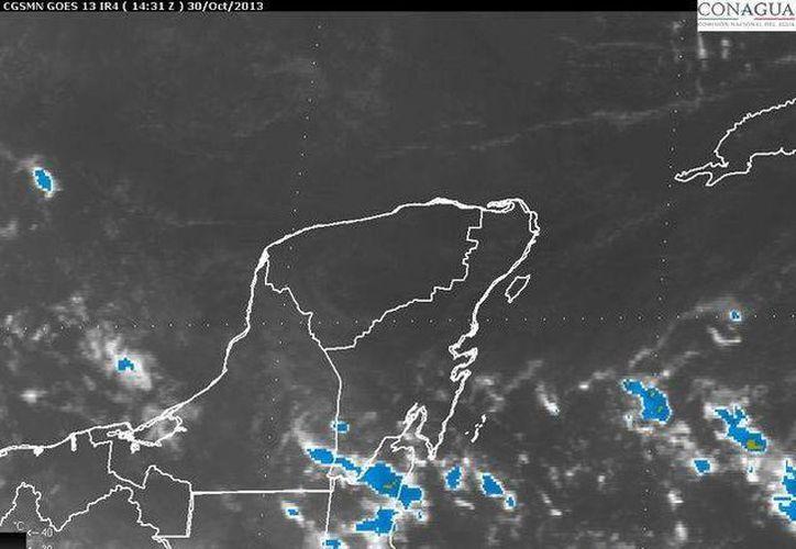 Pronostican cielo medio nublado a nublado con lluvias de moderadas a fuertes. (Conagua)