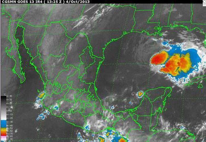 A las 4 horas 'Karen' se localizó a 510 kilómetros al noroeste de Cancún. (Conagua/SIPSE)