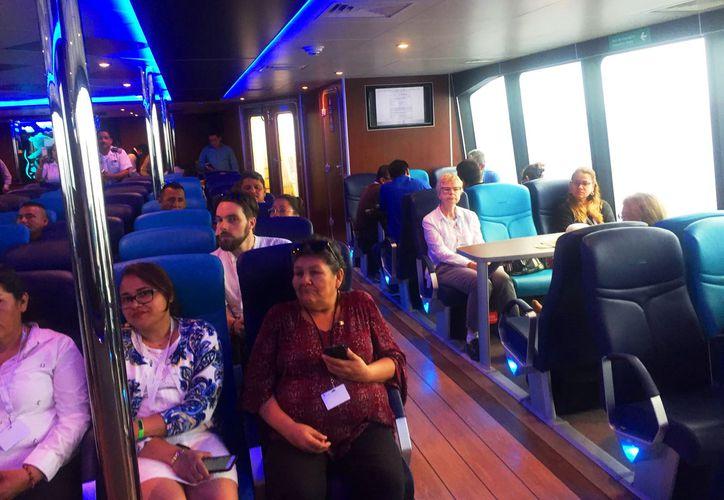 Realizaron un simulacro en el trayecto de un ferry de la ruta Playa del Carmen-Cozumel. (Daniel Pacheco/SIPSE)