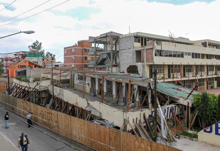 En el derrumbe del colegio el pasado 19 de septiembre, murieron 19 niños y siete adultos. (Notimex)