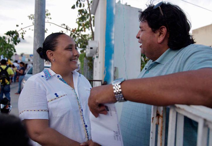 Cristina Torres, abanderada de Por Quintana Roo al Frente, acudirá a la cita en la capital del estado. (Adrián Barreto/SIPSE)