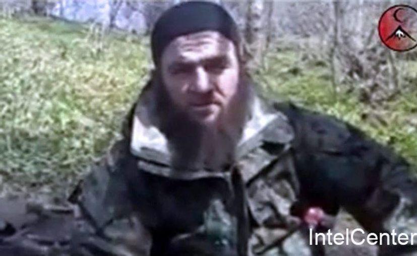 En la foto el líder rebelde checheno Doku Umárov supuestamente fallecido. Los servicios secretos de Rusia afirmaron no disponer de información al respecto. (EFE/IntelCenter)
