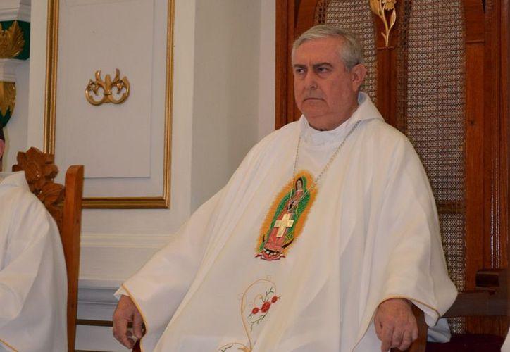 Arzobispo de Yucatán, Mons. Emilio Carlos Berlie Belaunzarán. (Milenio Novedades)
