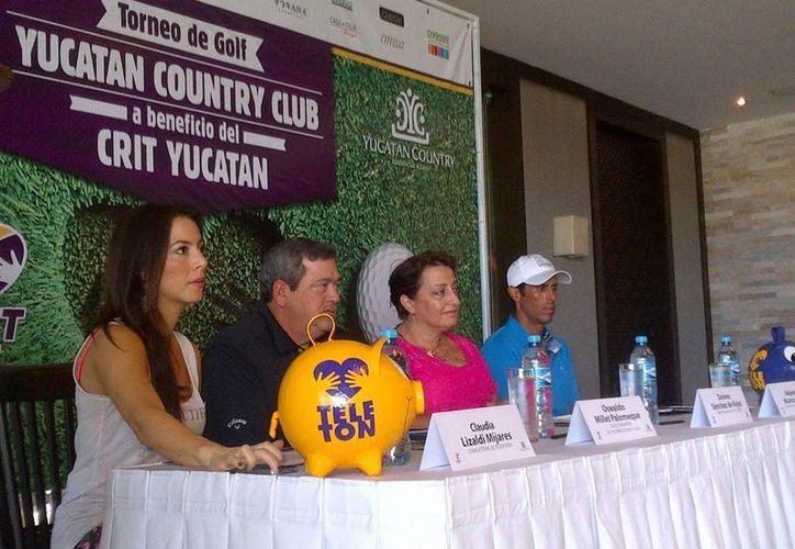 Ayer se anunció el I Torneo de Golf Yucatán Country Club en apoyo al CRIT. (Milenio Novedades)