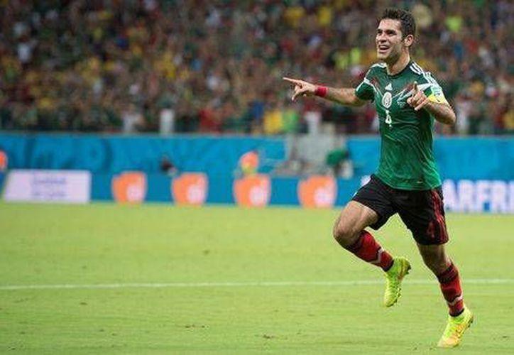 Rafael Márquez celebra su gol ante Croacia en la pasada Copa del Mundo (Mexsport)