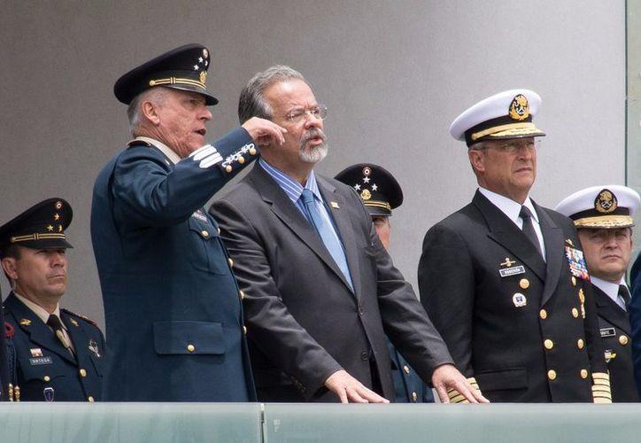 Los mandos militares encabezaron una ceremonia en honor. (La Jornada)