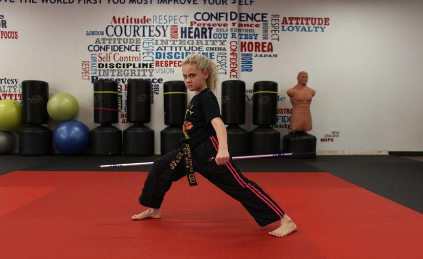 Channah se convirtió en la persona más joven en lograr un título en el Campeonato Estatal de artes marciales cuando solo tenía cuatro años. (Vanguardia MX)
