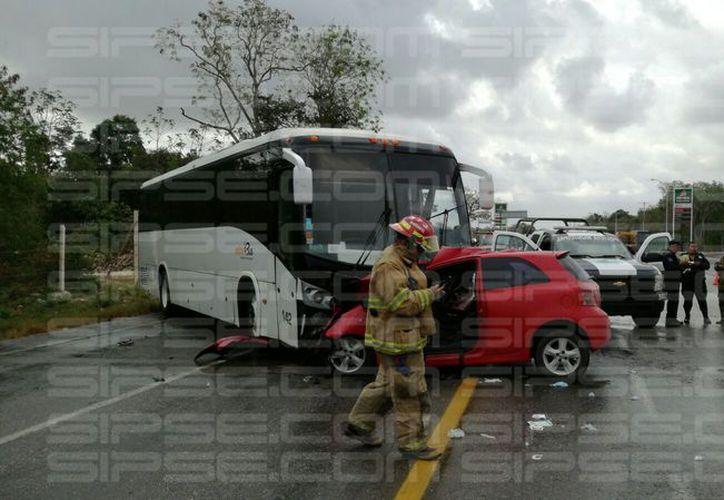 Los hechos se registraron en la carretera Libramiento. (Luis Hernández/SIPSE)