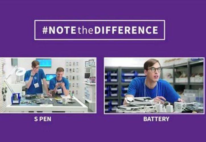 Con seis videos, Samsung compara su Galaxy Note 4 con los nuevos productos de Apple. (Captura de pantalla Youtube)