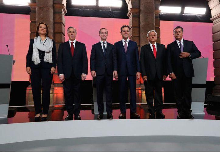 A las 20:00 horas inició el primer debate de los cinco candidatos a la Presidencia de México. (Notimex)