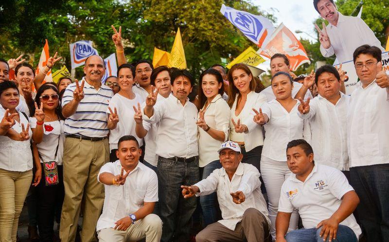 Víctor Mas dijo que hará una gran alianza con la ciudadanía y empresarios. (Cortesía)