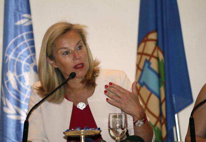 Sigrid Kaag, titular de OPAQ, animó al gobierno sirio a deshacerse de su arsenal tóxico. (AP)