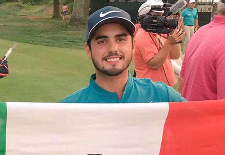Golfista mexicano, Abraham Ancer obtiene cuarto lugar en un torneo de la PGA Tour, el Quicken Loans National. (Marca)