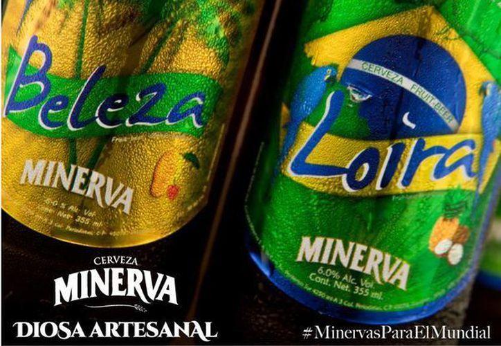 Minerva Beleza y Minerva Loira tienen un grado de alcohol de 6 por ciento. (cervezaminerva.mx)