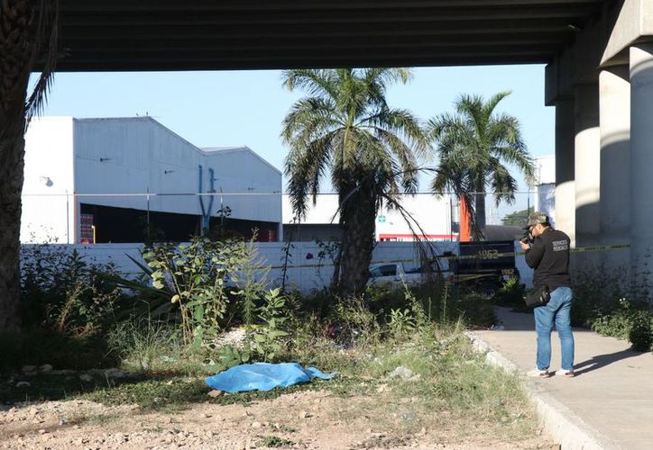 El cuerpo fue hallado esta mañana bajo uno de los puentes del Anillo Periférico. (Jorge Pallota/SIPSE)