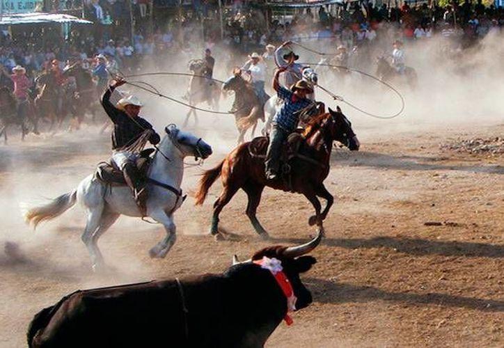 La Comisión Estatal de Derechos Humanos pidió a los ayuntamientos modificar sus reglamentos para prohibir la entrada de niños a espectáculos violentos, como los torneos de lazo (foto). (Milenio Novedades)