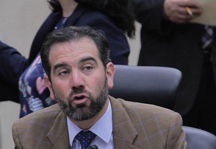 El titular del INE, Lorenzo Córdova, dijo que se está avanzando 'a paso firme' en la investigación para dar con el o los responsables de la filtración de la lista nominal de electores. (Notimex)