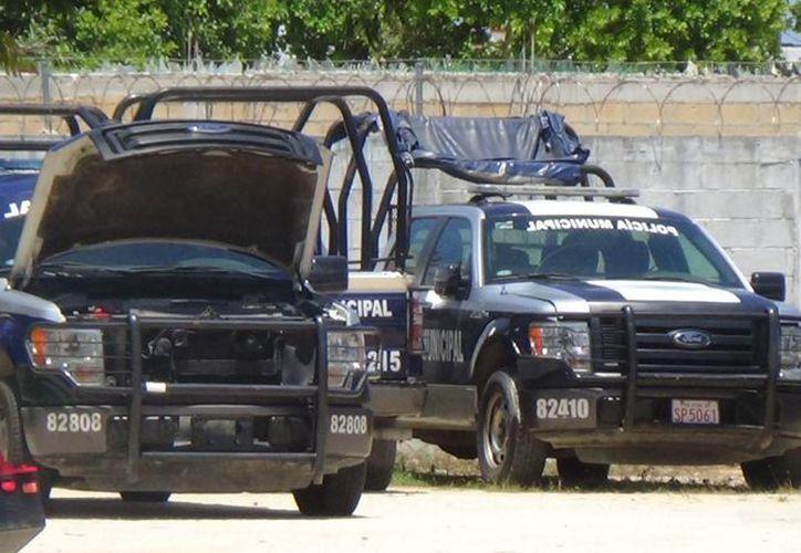 Actualmente  en Solidaridad hay 30 patrullas que están fuera de servicio por fallas mecánicas. (Adrián Barreto/SIPSE)
