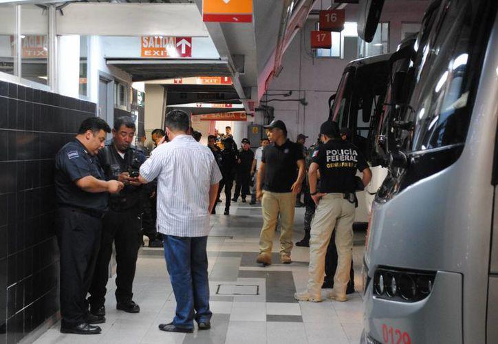 Las autoridades continúan investigando sobre el asalto en la terminal de autobuses. (Eric Galindo/SIPSE)