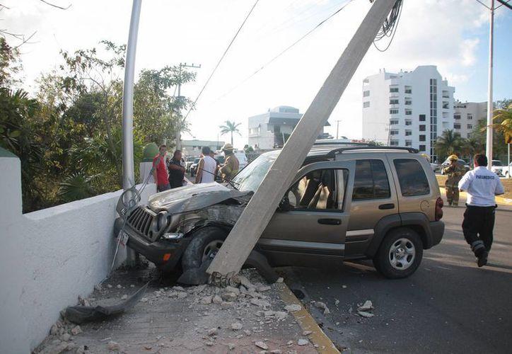 En el accidente no se registraron lesionados. (Julián Miranda/SIPSE)