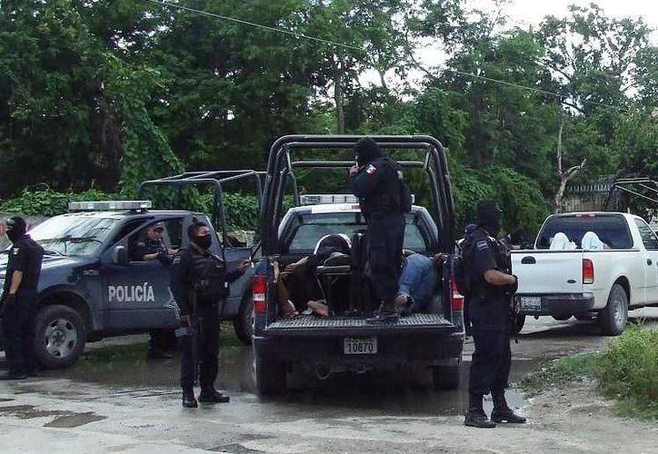 Para este fin de año las fuerzas municipales de seguridad han redoblados esfuerzos en los operativos. (Rossy López/SIPSE)