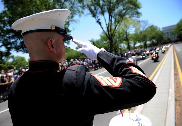 """El desfile Rolling Thunder es el evento más colorido de los que se celebran en Washington durante el fin de semana dedicado al """"Memorial Day"""" o Día de los Caídos. (Archivo/EFE)"""