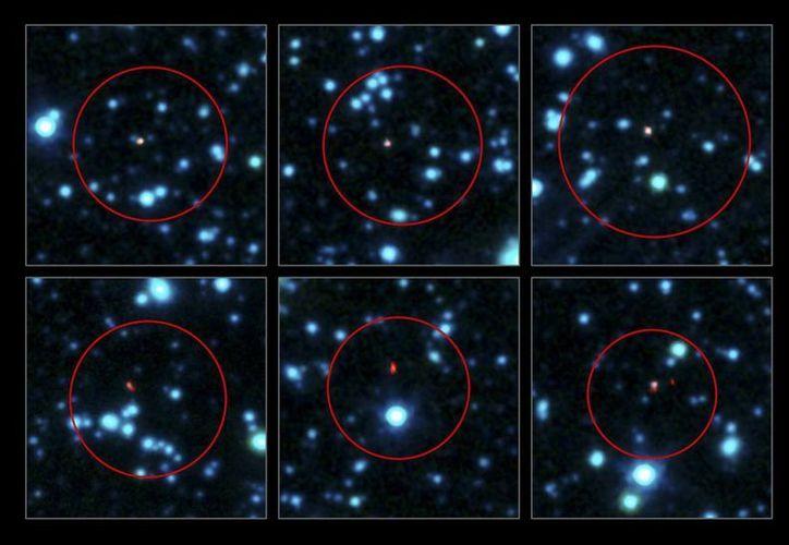 Imagen que muestra 100 de las galaxias con mayor formación estelar del universo temprano. (EFE)