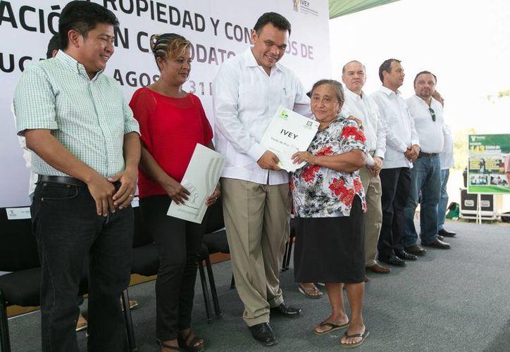 En La Guadalupana se entregaron 211 convenios de asignación en comodato y 143 títulos de propiedad. (Cortesía)