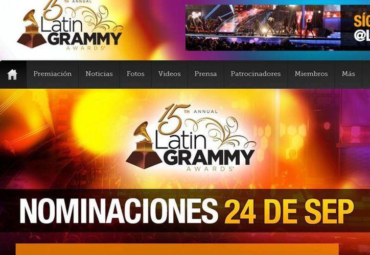 La entrega del Latin Grammy, el 20 de noviembre en Las Vegas, será precedida por eventos culturales en diferentes ciudades de EU. (latingrammy.com)