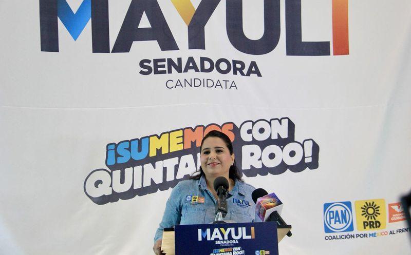 """""""El México que ven los niños es el que todos tenemos que ver: el de la concordia"""": Mayuli Martínez. (Foto: Redacción)"""