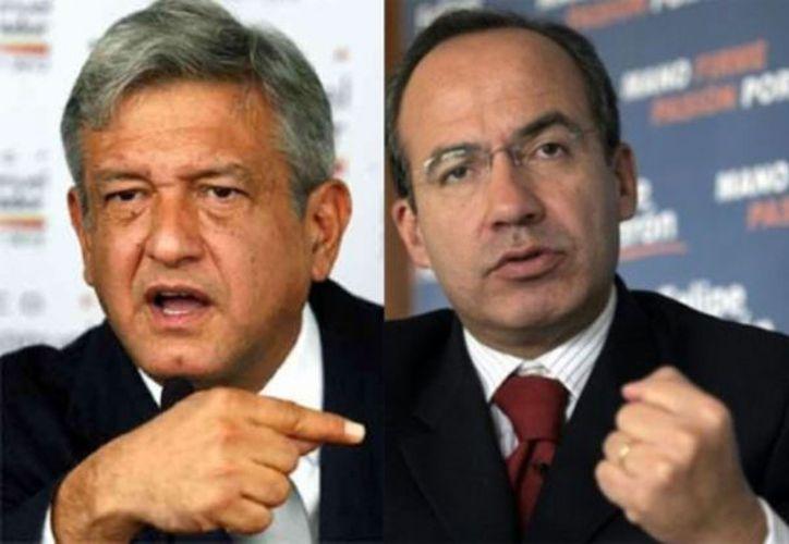 """""""Rechazo categóricamente que yo haya beneficiado a empresas extranjeras o mexicanas"""", le contestó Calderón a López Obrador. (Internet)"""