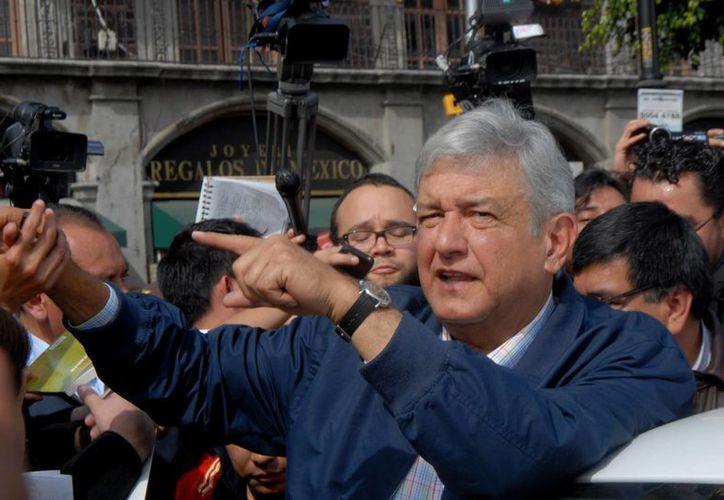 Andrés Manuel López Obrador en imagen del 8 de enero pasado, en un mitin en la Ciudad de México. (Archivo/Notimex)