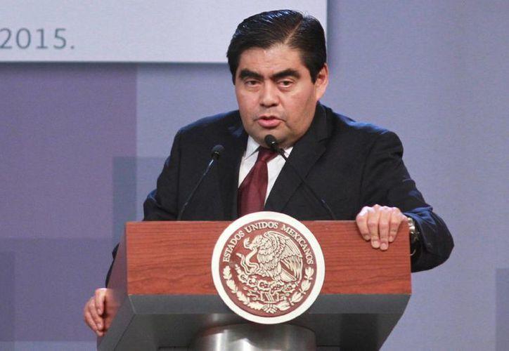 Miguel Barbosa aseguró que con el caso Moreira se 'echa por tierra' la percepción de triunfalismo que se había formado tras la recaptura de Joaquín 'El Chapo' Guzmán. (Archivo/Notimex)
