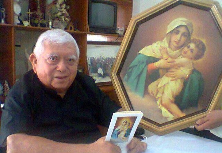 El padre Fernando Jesús Castro detalló el evento que será en Kanasín. (Milenio Novedades)