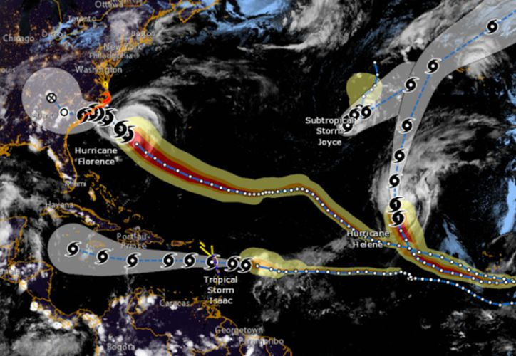 Joyce tiene vientos máximos sostenidos de 75 kilómetros por hora. (Milenio)