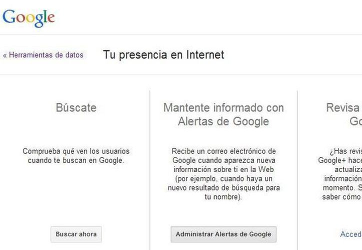 """En la sección """"herramientas de datos"""" el usuario podrá administrar su presencia en las búsquedas de Google (Captura de pantalla/Google)"""