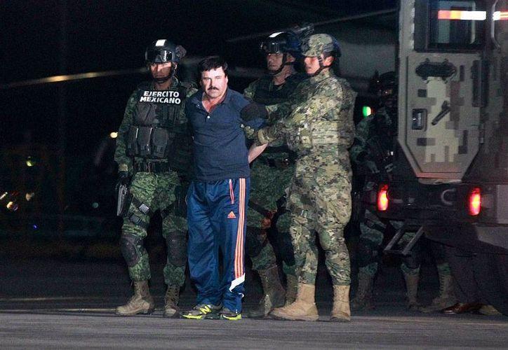 Joaquín 'El Chapo' Guzmán ha salido dos veces a los patios del penal de máxima seguridad del Altiplano desde su detención, el 8 de enero pasado, según informaron autoridades federales. (Notimex/archivo).