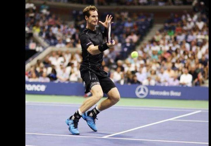 En partido de la primera ronda del Abierto de tenis de EU, Andy Murray (foto) eliminó al australiano Nick Kyrgios. (EFE)