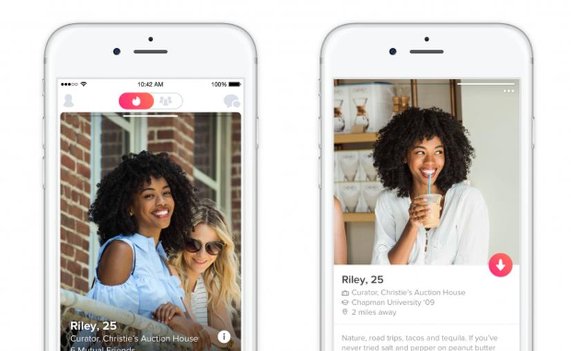 La aplicación de citas en línea, Tinder, lanzó una nueva actualización. (Tinder).