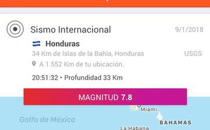 Terremoto de 7,6 grados se registra frente a la costa de Honduras