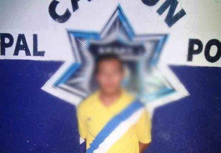 Carlos N, fue puesto a disposición de las autoridades correspondientes. (Redacción/SIPSE)