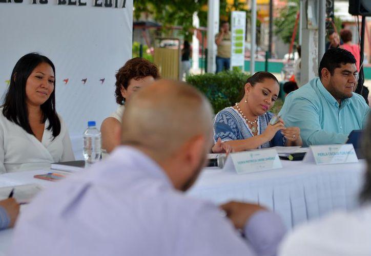 El debate entre la alcaldesa y el regidor se dio este martes durante el punto de asuntos generales. (Gustavo Villegas/SIPSE)