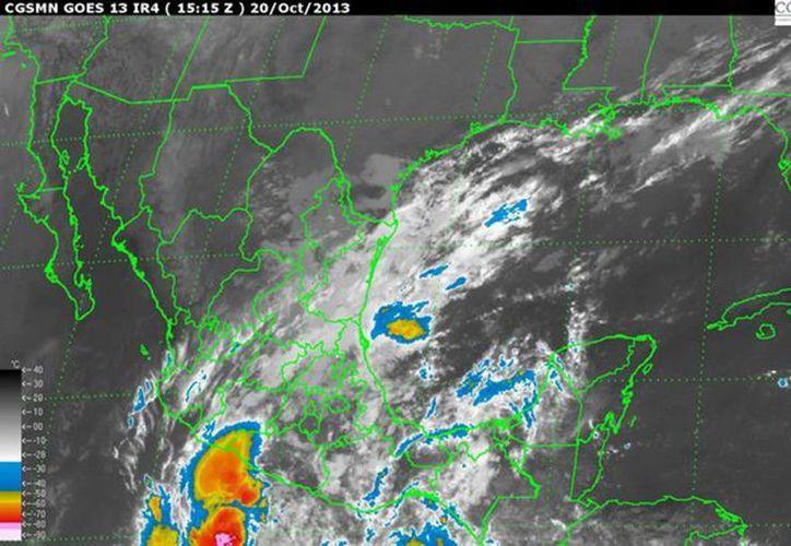 Gran parte de la República registrará lluvias por ambos fenómenos. (Notimex)