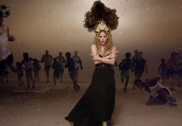 Shakira promueve la canción mundialista 'La La La', que ha tenido más aceptación que otras similares. (Agencias)