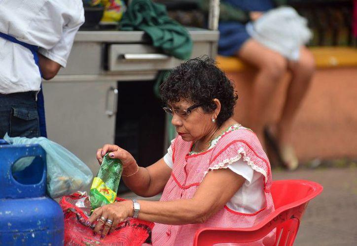 Diversos programas de Gobierno buscan que más personas pasen de la informalidad a la legalidad. En la imagen, una mujer trabajadora de un puesto de comida en Mérida. (Milenio Novedades)
