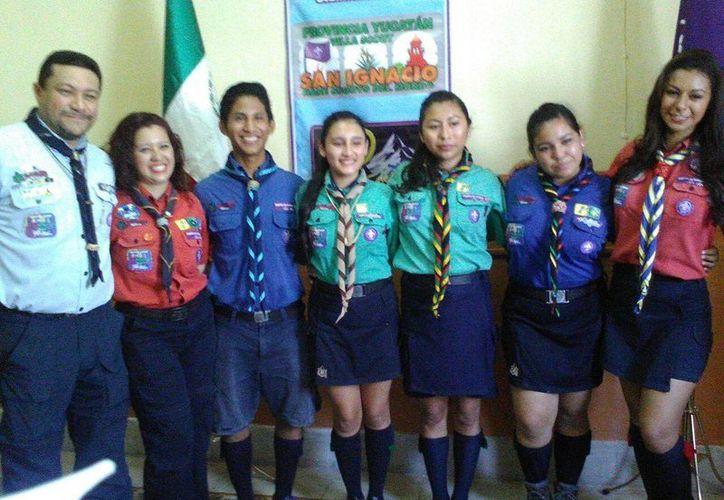 Imagen de la presentación de la Semana Scout 2016 de la Provincia Yucatán de la Asociación de Scouts de México. (José Salazar/Milenio Novedades)