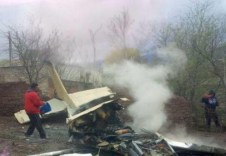 La avioneta se desplomó en el municipio de Santa Bárbara, en Chihuahua. (Milenio)